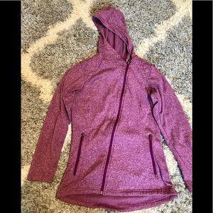 Columbia fleece lined asymmetrical zip up